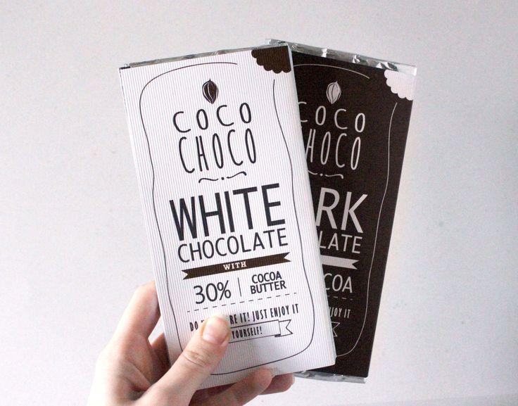 """""""coco choco"""" dark & white chocolate"""