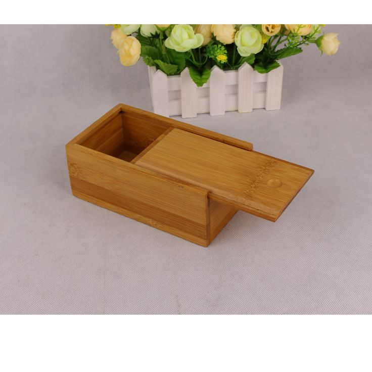 Bamboo Sliding Lid Box Bamboo Wood Boxes Wooden Boxes