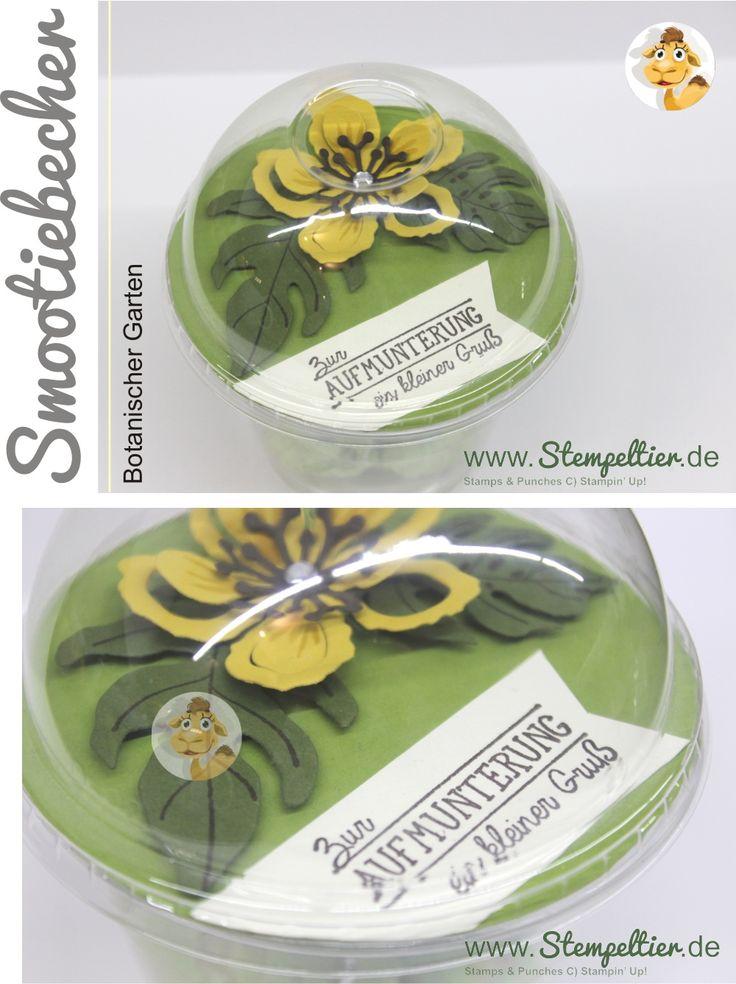 stampin up stempeltier domecup smoothiebecher Dombecher botanischer garten verpackung botanical blooms aufmunterung