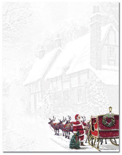Santa's Sleigh Letterhead