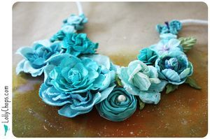 Pretty necklace tutorial - this is lovely
