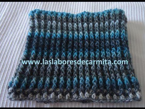 Cuello crochet paso a paso - YouTube
