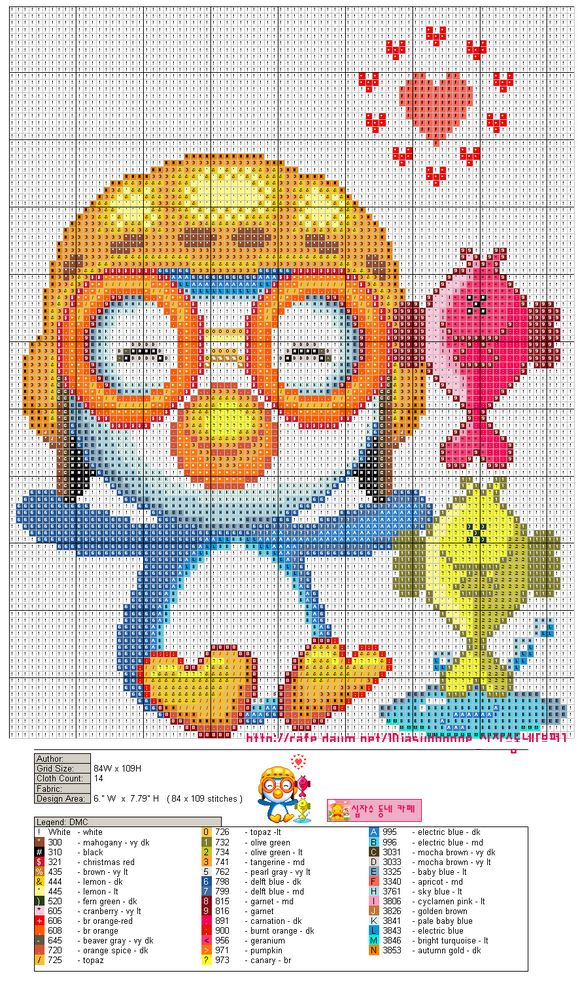 Free Cute Penguin Cross Stitch Chart or Hama Perler Bead Pattern