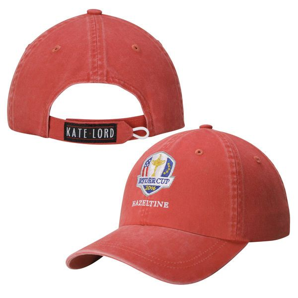 2016 Ryder Cup Women's Peach Twill Adjustable Hat - Red - $24.99