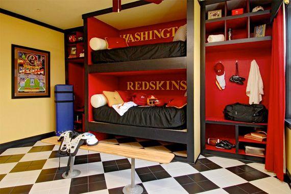 Football Rooms | Football Decorating Ideas | Sports Decor-closet inspiration, take off door and make it look like a locker