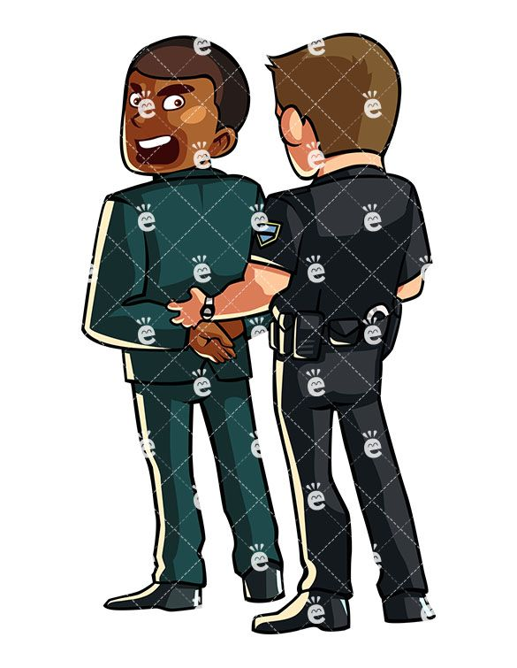 Police Officer Handcuffing A Shouting Black Businessman:  #african #african-american #american #angry #arrest #arrested #black #business #businessman #busted #captured #cartoon #character #clipart #confined #convict #cop #corrupted #crime #criminal #cuffs #darryl #drawing #entrepreneur #formal #frustrated #graphic #handcuffed #handcuffs #illegal #illustration #image #individual #jail #justice...