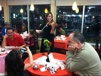Violinist Bond Jessup provided beautiful ambiance with her music at Daddy Daughter Date Night 2011.