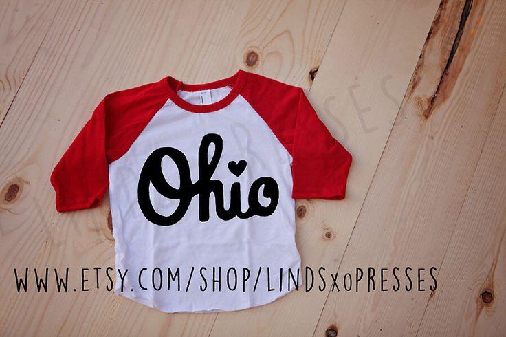 Script Ohio Raglan Shirt; Buckeyes; Ohio State; Raglan; Baseball tee;Go Bucks; Brutus; Buckeye Baby Gear; Ohio by LINDSxoPRESSES on Etsy https://www.etsy.com/listing/222042701/script-ohio-raglan-shirt-buckeyes-ohio