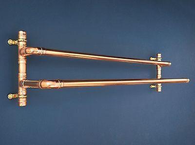 COPPER PIPE TWIN TOWEL RAIL - INDUSTRIAL, RETRO, URBAN, CHIC