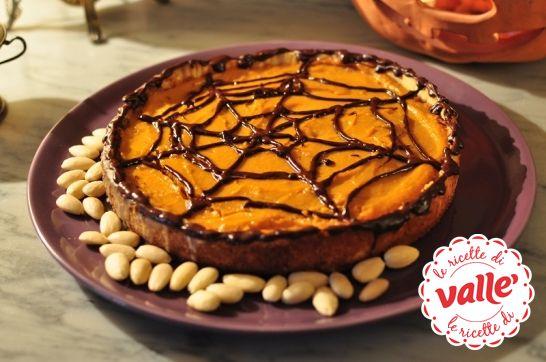 Crostata con crema di #zucca e ricotta #halloween  Dolcetto o scherzetto?