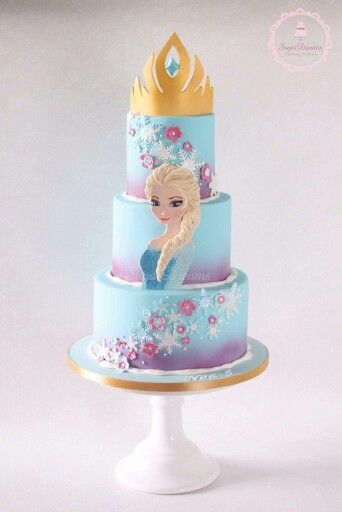 Frozen themed cake - For all your cake decorating supplies, please visit craftcompany.co.uk