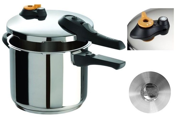 Stainless Steel Pressure Cooker Fast Steamer Kitchen Slow Steam Cooking 6.3 Qt #StainlessSteelPressureCooker
