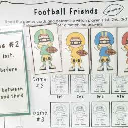 Football math centers: logic problems