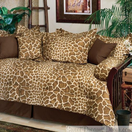 giraffe print comferters giraffe 5 piece daybed comforter set animal print bedding from