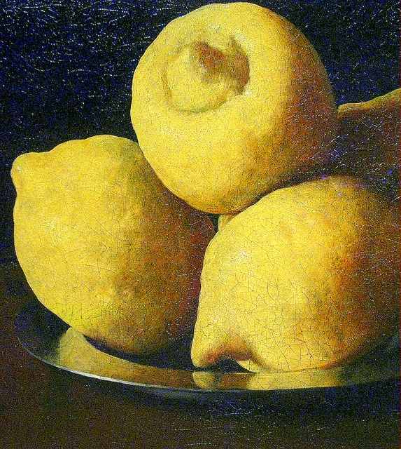 Zurbaran - Still-life with lemons, oranges, a cup & a rose, detail [1633] | Flickr - Photo Sharing!