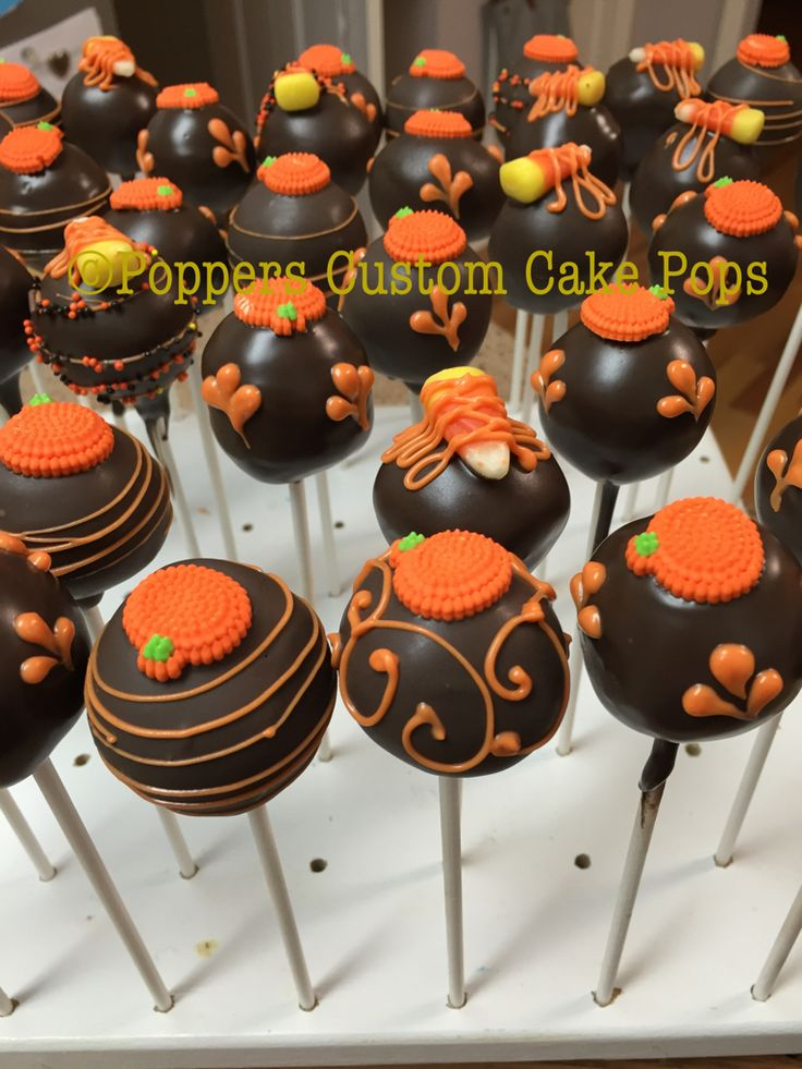 Cake Pop Ideas For Thanksgiving : DECORATED COOKIES MY CAKE POPS & COOKIES Pinterest ...