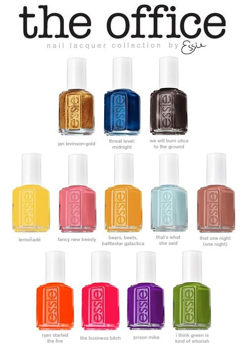 Cool! i hope that this is real: Nail Polish, Nails Colors, Offices Collection, Essie, Office Nails, Nails Polish Collection, Be Real, Offices Nails, The Offices
