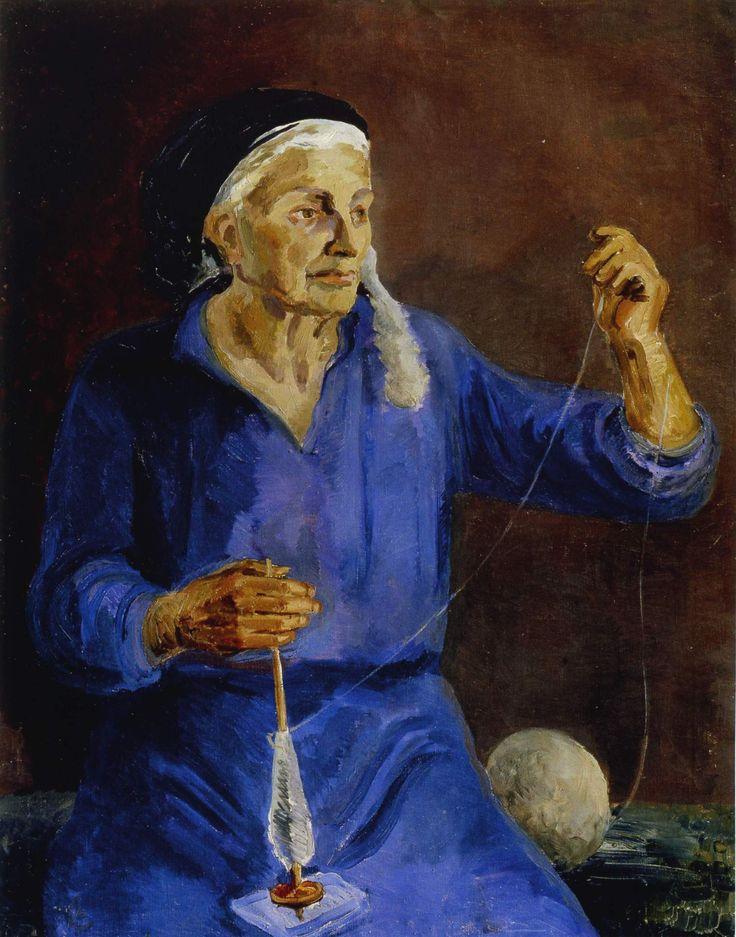 С. Лучишкин. Гречанка. 1935 Холст, масло. 100 x 80 см  Запорожский художественный музей, Украина