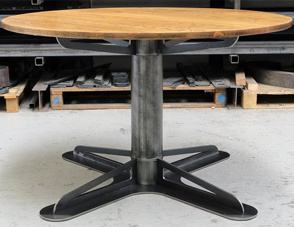 The Generals Round Table Industrial Dining Table Table Design