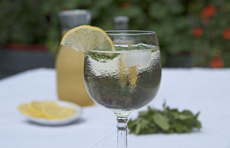 Hugo Cocktail with Elderflower Syrup