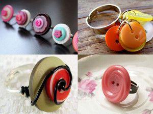 anelli anello fai da te fai-da-te gioielli bijoux riciclo riciclare bottoni bottone