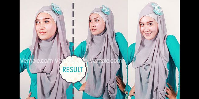 Memakai jilbab with beautiful bow