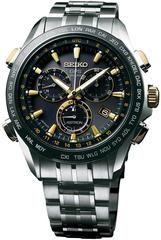 Seiko Astron Watch GPS Solar Chronograph Gold SSE007 Watch