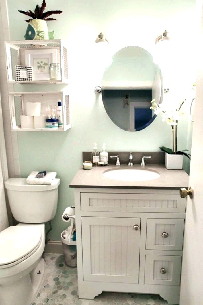 Best Paint Color For Small Windowless Bathroom Small Half Bathrooms Guest Bathroom Small Half Bathroom Decor