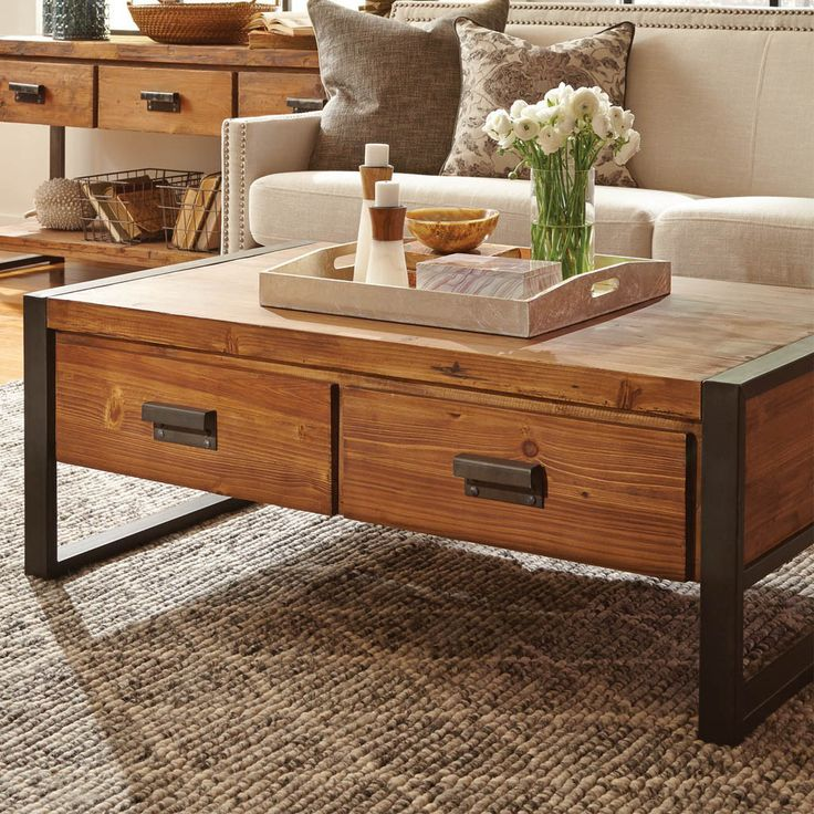 Wood Coffee Table With Drawers Large Coffee Table With: 1000+ Ideas About Coffee Table Tray On Pinterest