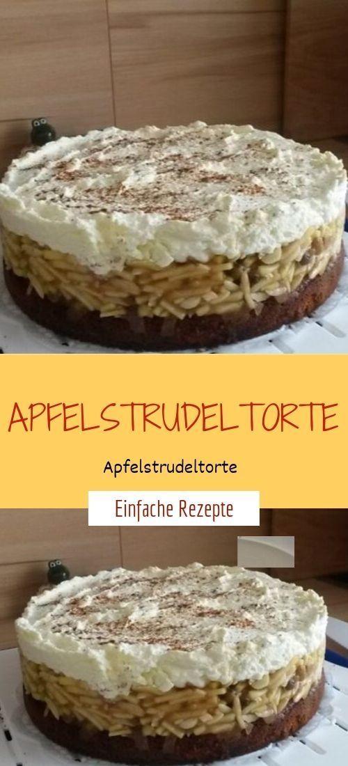 Apfelstrudelkuchen # süßes Backen Zutaten: 16 für 1 Springform von 28 …   – fig