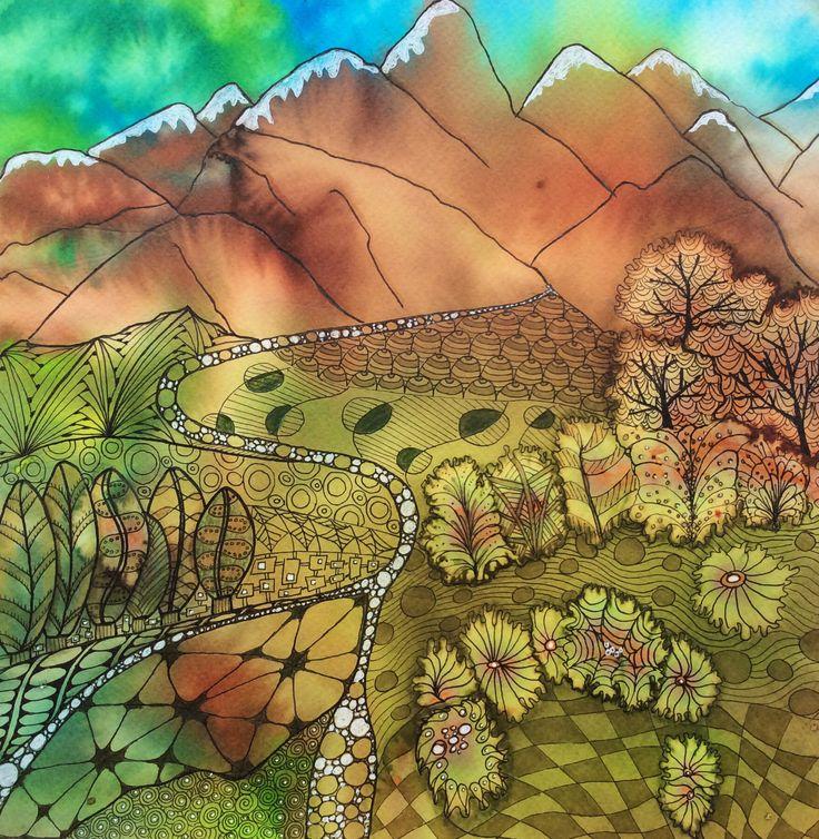 17 Best images about Landscape zentangle on Pinterest | Martin o ...