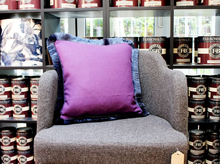 Our NEW Purple cushion with Fringe is ideal for anyone looking to create a customized interior. Made by us here in Norfolk, this cushion is quite unique, in that we only ever make certain designs in small quantities, so you'll not see these anywhere else on the high street. And how great of an addition does it make to our favourite Penny chair?