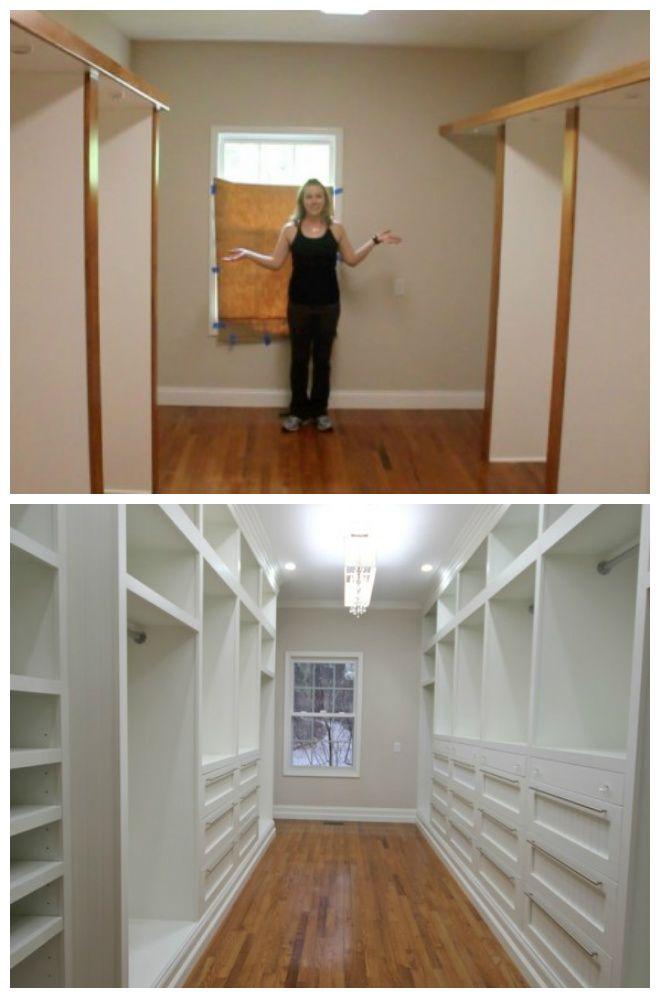 Oh yes! A beautiful master closet reno!