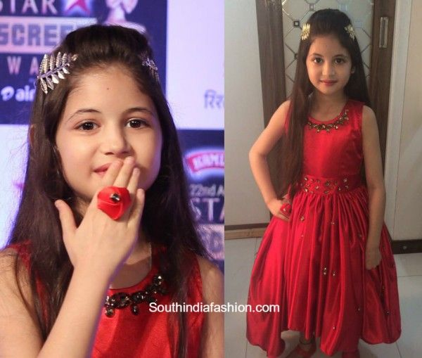 harshali_malhotra_red_frock