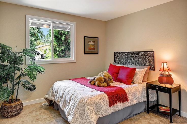 Warm and cozy bedroom. Stylishly renovated home in Kirkland, WA.