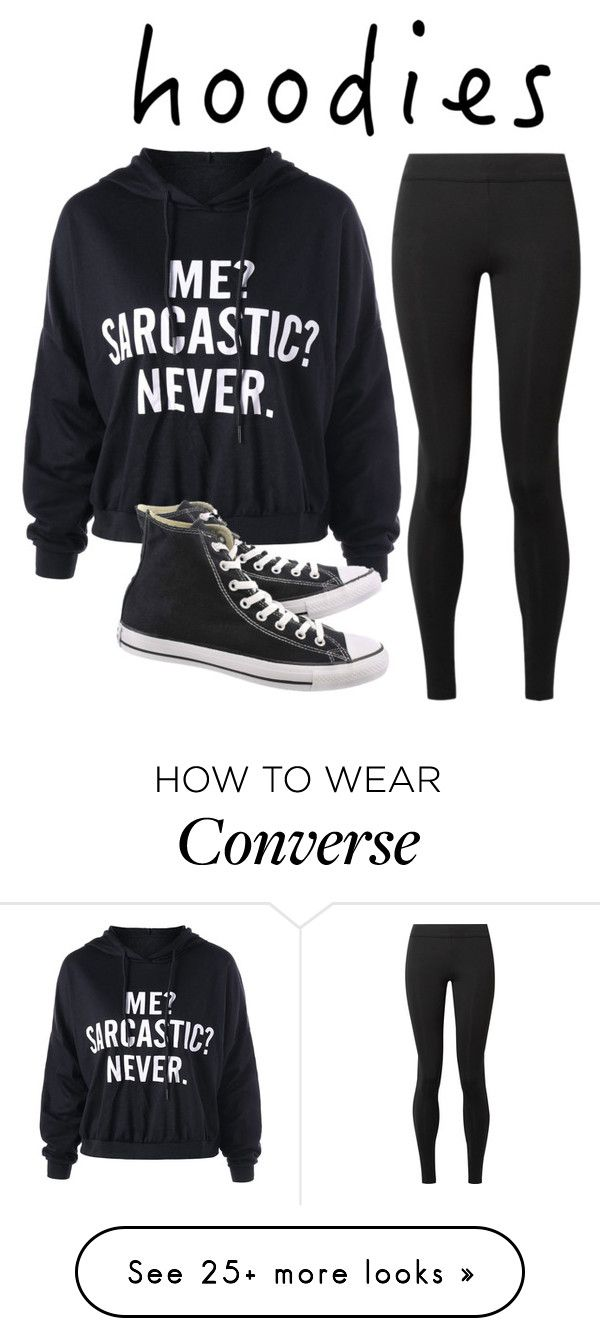 """Untitled #248"" by emotional-life on Polyvore featuring The Row, Converse and Hoodies"
