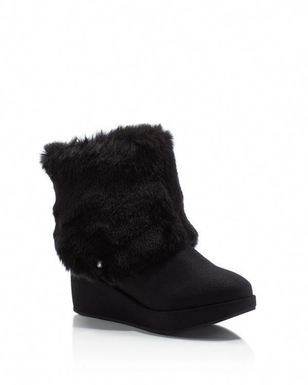 2cb576be9d93 Stuart Weitzman Girls  Gia Faux Fur Wedge Booties - Little Kid