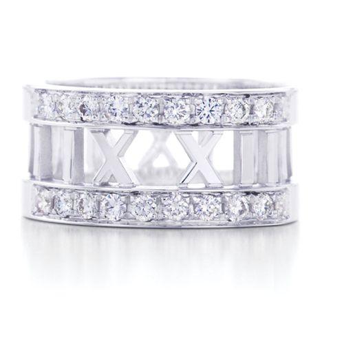 Tiffany & Co Atlas Roma Rin Wit Diamond Ring