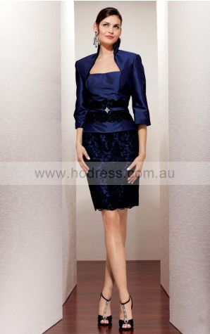 None Knee-length Natural Sheath Taffeta Formal Dresses aiga307034--Hodress