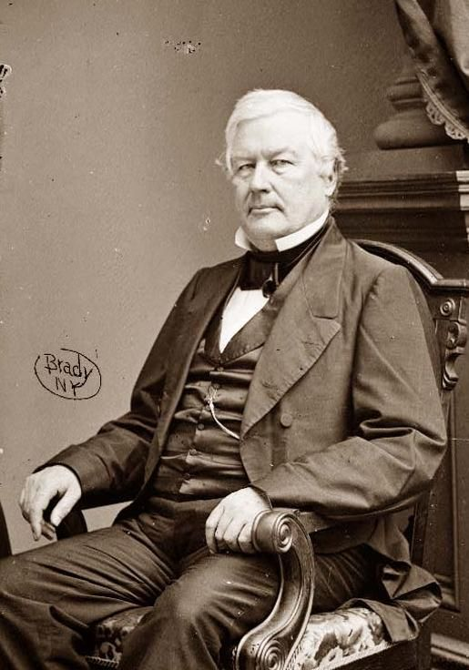 This is a portrait of Millard Fillmore. Millard was inaugurated as President of the United States on July 10, 1850. He had been vice president, but became president upon the death of Zachary Taylor, who died in office. Millard is not one of the most remembered presidents.