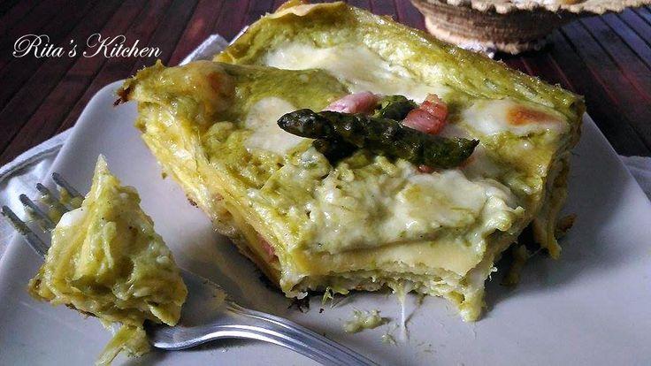 Lasagna agli asparagi e pancetta croccante