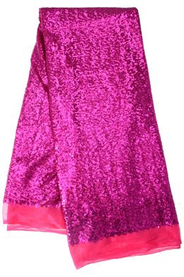 Beautiful Fuchsia Pink Sequence Lace