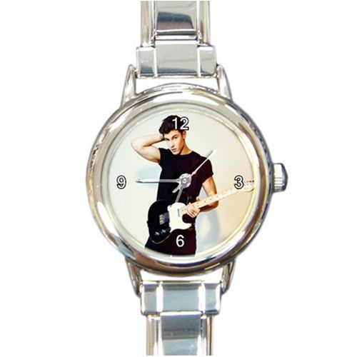 Shaun Mendes Round Italian Charm Watch Stainless Steel Silver #Unbranded