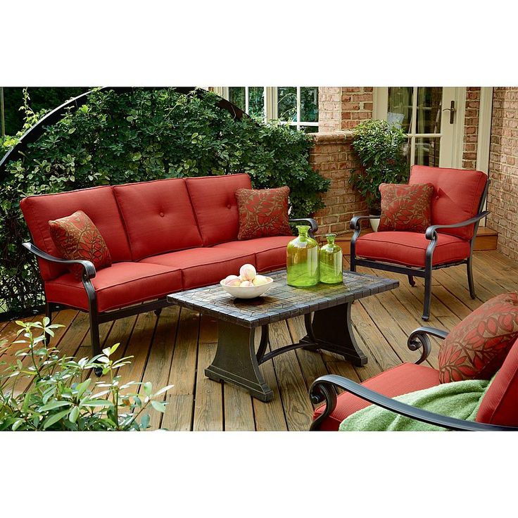 Panorama 4 Piece Patio Seating Set Enjoy the Outdoors with Ideas at Sears