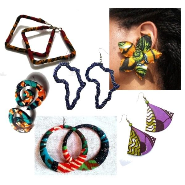 """""""Earrings in African Print..insp@Tswana designs"""" by introducing-neo on Polyvore"""