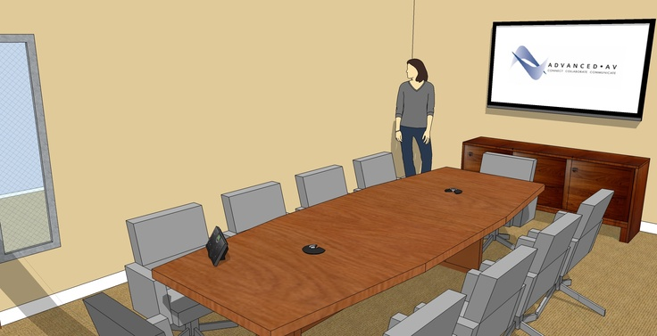 Small Conference Room Sketchup (With images) Room