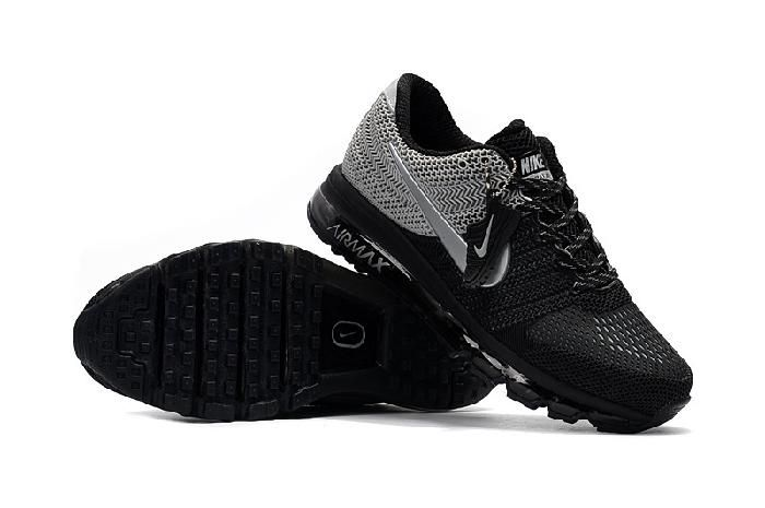 Hottest Nike Air Max 2017 Gray Black Sports Sneakers On Sale - $69.89