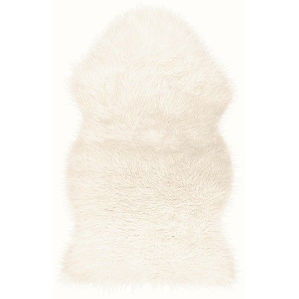 White Faux Fur Rug (235 GTQ) ❤ liked on Polyvore featuring home, rugs, white faux fur rug, white rug, faux fur rug, fake fur rugs and faux fur area rug