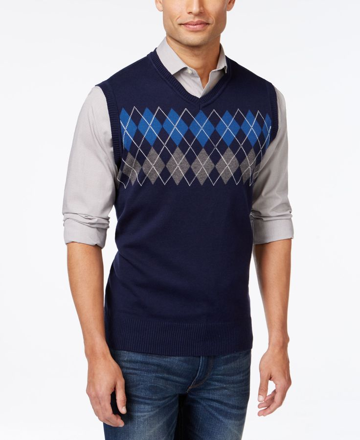 Wool Argyle Sweater Vest 60