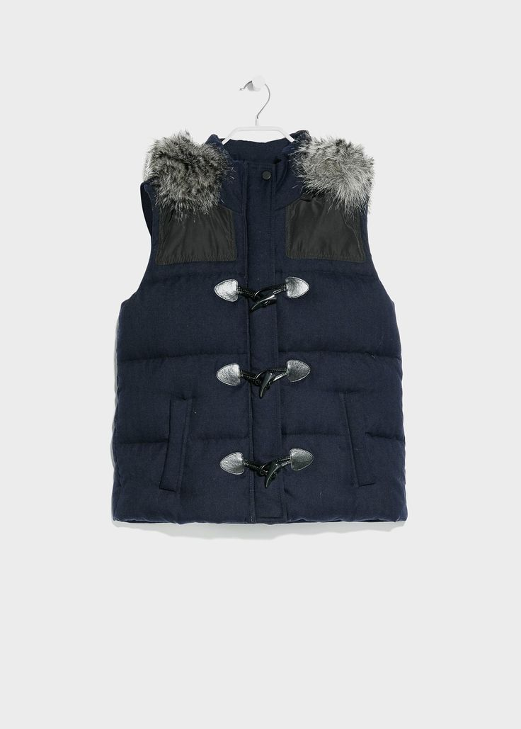 Feather down hooded gilet | MANGO